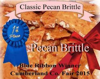 pecan brittle homemade candy gift basket gluten free table teacher appreciation wedding birthday party anniversary vanilla
