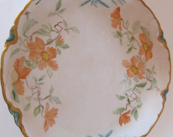 Large Hand Painted Hutschenreuther Platter - Signed by Artist Mary Garrison