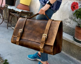 Leather satchel/field bag