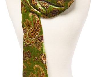 Women's Vintage Paisley/Leaves/Leopard/Floral/Cheetah Abstract Silk-Blend Scarf