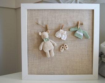Nursery Frame. Nursery Decor. Nursery Ideas Decor. Baby Frame Ideas. Baby  Gift