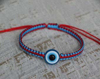 Evil Eye Bracelet, Blue Evil Eye, Red Evil Eye Bracelet,Protection Bracelet,Kaballah braceler, Red string bracelet