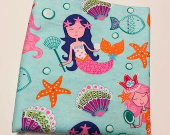 Flannel Receiving Blanket {Mermaids}