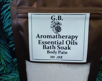 Aromatherapy essential oils and therapeutic bath salts