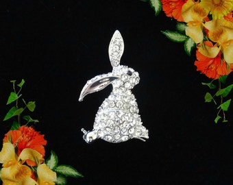 50% SALE Rabbit Pin..Bunny Pin..Rabbit Brooch..Bunny Brooch..Easter Bunny..Rabbit Jewelry..Bunny Jewelry..Easter Jewelry Easter Gift For Her