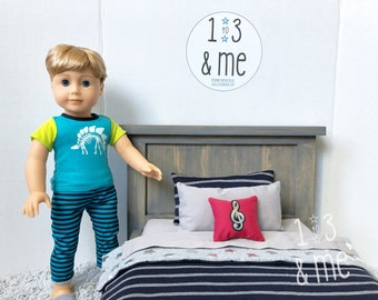 """The Logan - Farmhouse style """"double"""" bed for 18"""" dolls"""