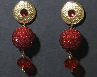 Red Omega Collection Earrings