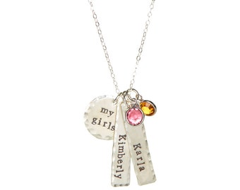 Sterling Silver My Girls Necklace
