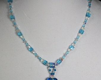 Blue Dichroic Necklace