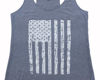 Merica Flag Tank Top - Fourth of July, Exercise Gym Tank, Yoga Tank top