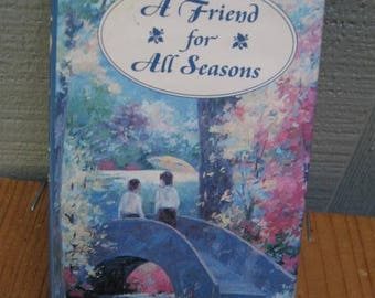 A Friend for All Seasons Small Mini  Book -  Collection Quotes Humor Philosophy Wisdom Poetry Poems Sentimental  Friendship Female Gift
