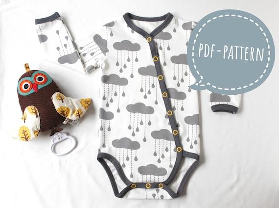Baby Sewing Pattern Onesie Bodysuit PDF Sewing Pattern for Newborn ...