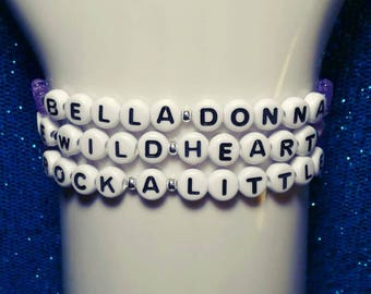 Stevie Nicks Bracelet Set / The Wild Heart / Bella Donna / Classic Rock / Silver Seed Bead Bracelets / Stevie Nicks Jewelry / 70s / Flowers