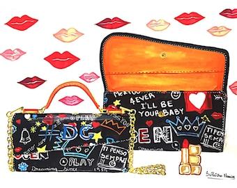 Illustration mini handbag Fashion illustration fashion lipstic Illustration