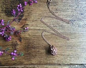 Rose gold blackberry neckkace