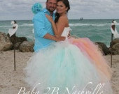 Beach Wedding Tulle Skirt...