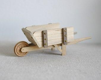 Dollhouse miniature 1:12 scale gardening wheelbarrow