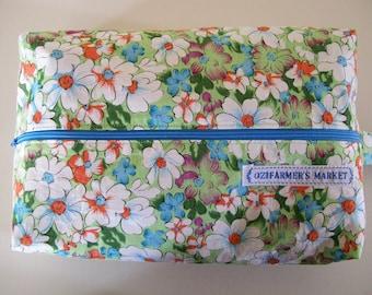 Large knitting box bag-  Floral