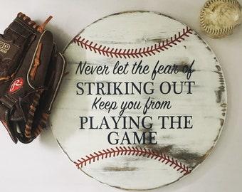 Baseball Home Decor - Rustic Home Decor - Babe Ruth - Baseball - Rustic Baseball - Baseball Sign