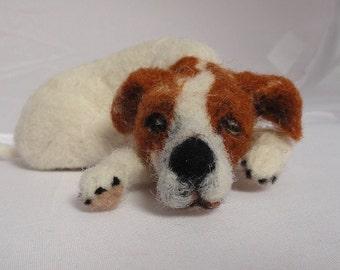 needle felted dog called Bella