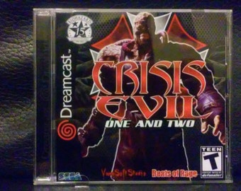 Crisis Evil 1 and 2 Sega Dreamcast
