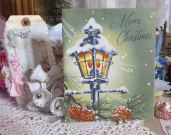 Vintage Retro Mid Century Christmas Greeting Card-Unused