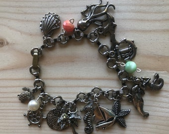 The sea life is for me charm bracelet