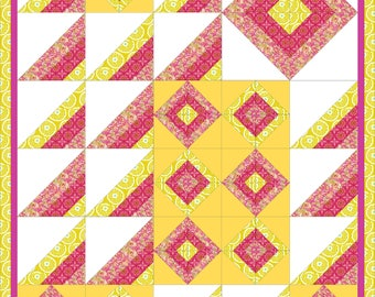 Modern, full bed quilt PDF pattern - Stripes Galore
