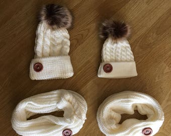 Mommy and Me Hats Mother Daughter Hats matching outfit mom and me hats Mother Daughter Matching Beanies Father Daughter Son mothers day gift