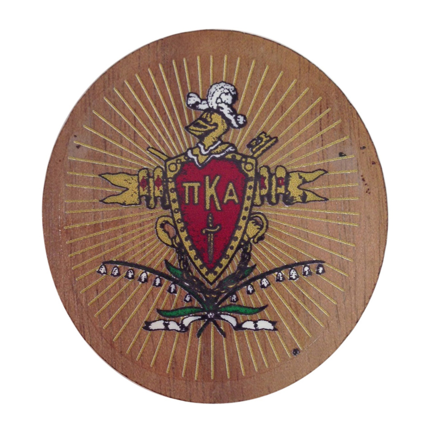 Pi kappa alpha pike fraternity mini wood crest for paddles zoom biocorpaavc Images