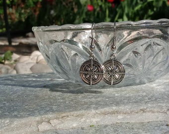 Simple Compass Earrings