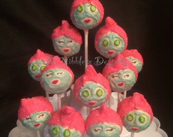 12 SPA DAY cake pops, facial, A Day at the spa