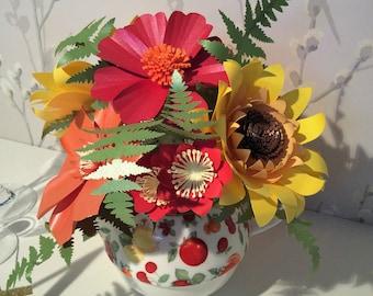 Summer Brights Paper Flower Arrangement
