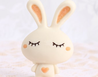 Cartoon Rabbit Fondant Mold Resin Mold Polymer Clay Mold Flexible Silicone Mould Candle Candy Cake Fimo Resin Crafts F1293