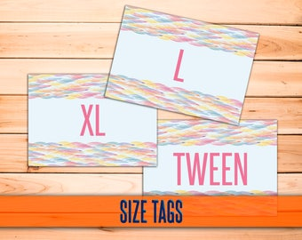 Feather SIZE Cards - Size Tags - Size Cards - Business - Marketing - Hanger Tags - Pricing Name Cards - Newly Released - Instant Download!