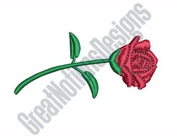 Rose Single Stem- Machine Embroidery Design