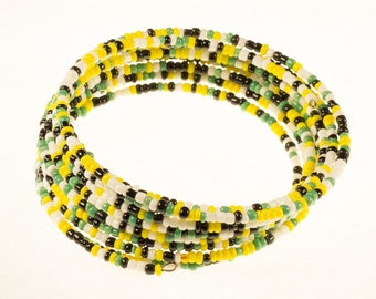 Green and Yellow Twirl Bracelet