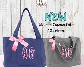 Personalized Tote Bag, Bridesmaid Tote Bag, Teacher Tote Bag, Sorority Gift, Sister Gift, Monogrammed Tote Bag, Bridesmaid Gift Tote