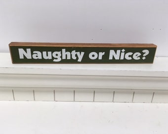 Naughty or Nice Shelf Sitter