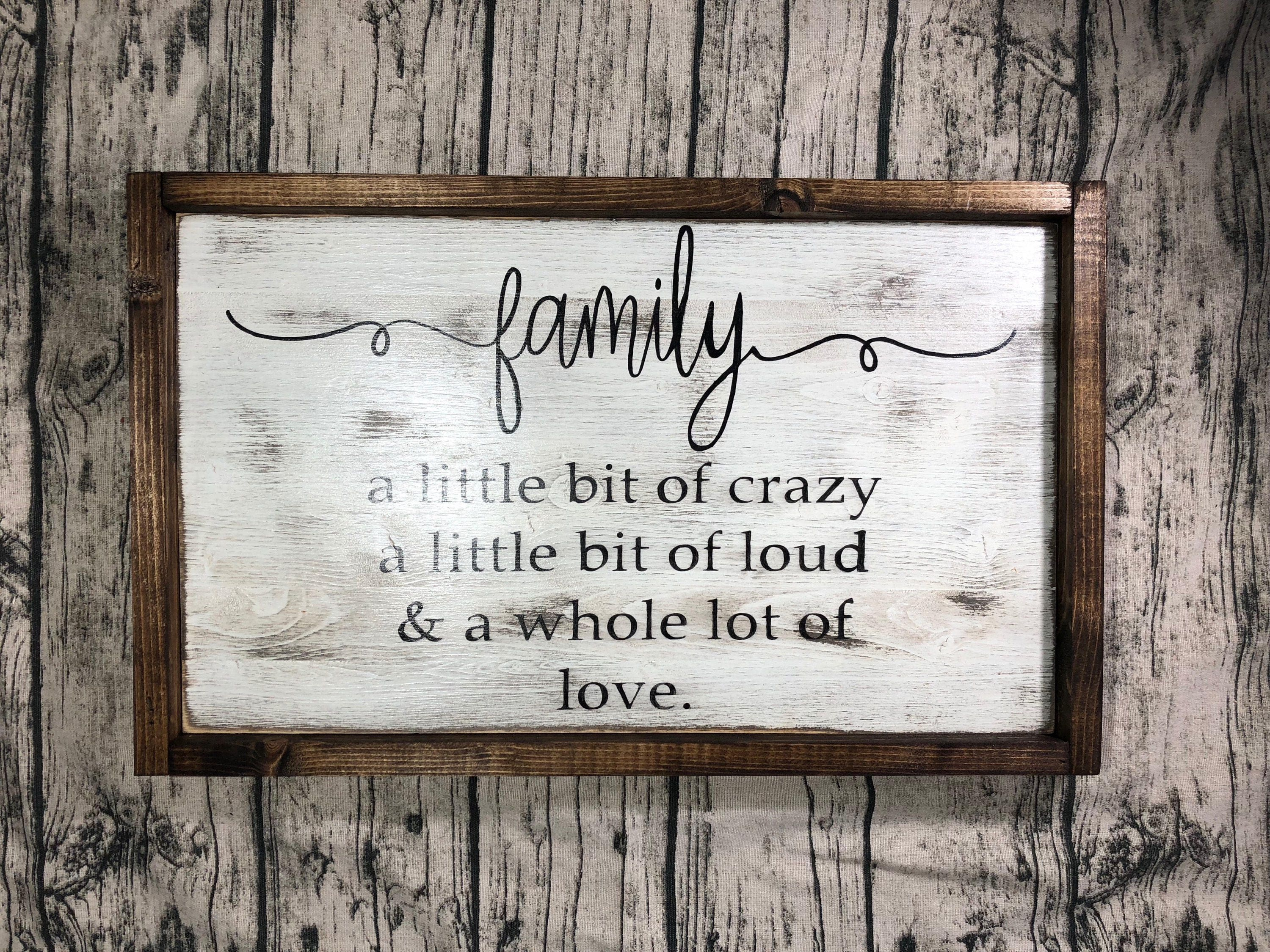 Family Sign, Living Room, Home Decor, Housewarming, Christmas, Gift ...