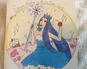 Original Drawings - Queen Frostine, Princess Lolly