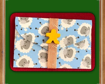 Pig or Sheep gift card holder | money card | board game | DIY coupon | voucher holder | meeple gift | farm