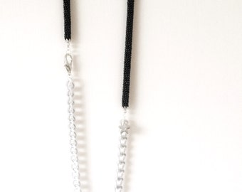 Gehaakte ketting-kraal gehaakte ketting-ketting stedelijke chic-haak-tubulaire parel ketting-Snake collectie-cadeau idee