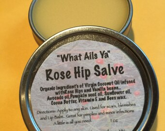 "ROSE HIP Organic Salve Balm Ointment 1 ounce "" What-Ails-Ya"""