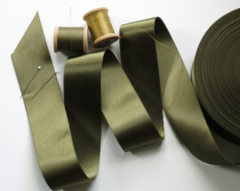 3Y Olive Satin Ribbon