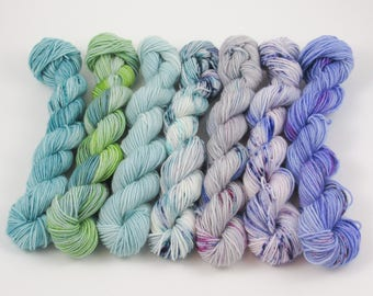PREORDER Fluorite Mini-Skein Sock Yarn Kit
