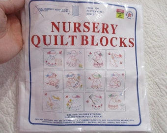 Quilt Blocks-Ready To Be Embroidered-Nursery