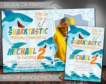 Shark Invitation, Shark Birthday Invitation, Shark Birthday Party Invitation, Shark Invite, Shark Pool Party Invitation, Digital, Print #632