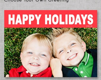 Photo Holiday Cards | Photo Christmas Cards | New Years Card with Picture | Simple Christmas Cards | Costco Size Christmas Cards