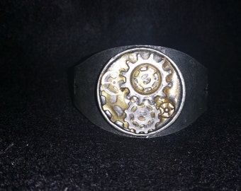 Steampunk style cuff bracelet